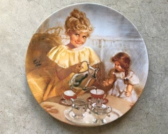 1982 Richard Zolan 2nd issue Cora's Tea Party Plate