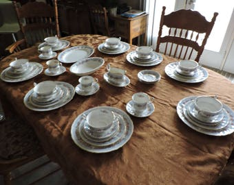 "Paragon China Set ""Bridemaid Pattern"" set of 54 pcs"