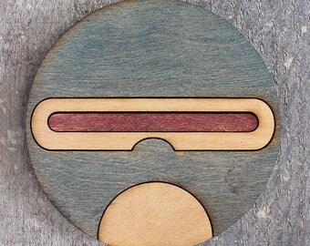 Cyclops Coaster   Rustic/Vintage   Hand Stained and Glued   Comic Book Gift   X-Men