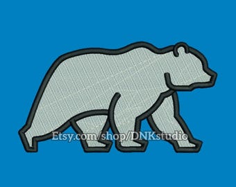 Polar Bear Embroidery Design - 4 Sizes - INSTANT DOWNLOAD