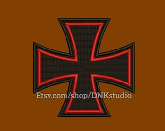Iron Cross Embroidery Design - 5 Sizes - INSTANT DOWNLOAD