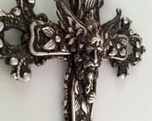 Greek God Cross Necklace - Fantasy Necklace - Zeus Necklace - Dawn Santucci - Metal di Muse - Religious Jewelry - Greek jewelry - Gothic
