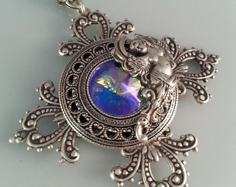 Game of Thrones Jewelry - Baroque Jewelry - Angel Necklace - Vintage Necklace - Victorian Necklace -  Dawn Santucci - Metal di Muse