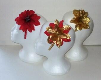Handbands, Hair Flowers, Flower Headbands, Christmas Headbands, Holiday Headbands, Barrettes, J'NING Accessories, Hair Accessories,