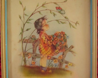 Vintage Carden Girls Baby Nursery Framed Prints