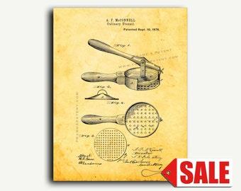 Patent Art - Culinary Utensils Patent Wall Art Print