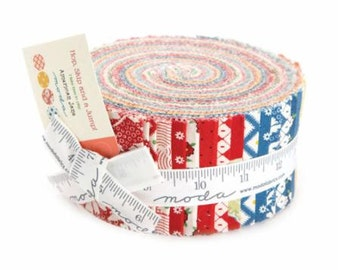 Hop, Skip and a Jump by American Jane for Moda Fabrics.  Jelly Roll 21700JR