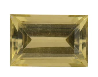 Green Gold Quartz Loose Gemstone Baguette Cut 1A Quality 12x8mm TGW 3.75 cts.