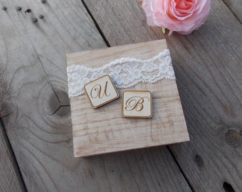 Ringbox 'Two Initials' - wedding/ring bearer pillow/rings/wedding decoration/wedding accessoires