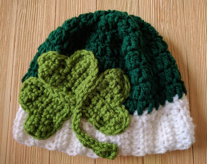 Shamrock Crochet Hat