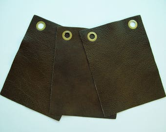 olive green leather 6x8 3pk samples
