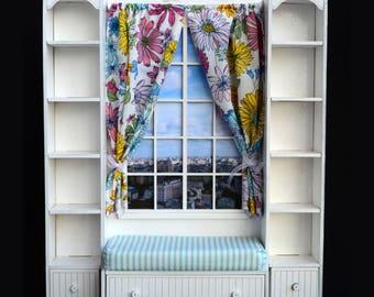Shelf-window #2 for doll size 1/6, 1/4, 1/3 (BJD MSD, momoko, blythe, obitsu, volks, unoa, barbie, fashion doll, azone, furniture)