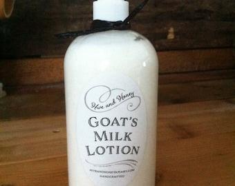 Goat's Milk Lotion 8oz Vanilla Sandalwood