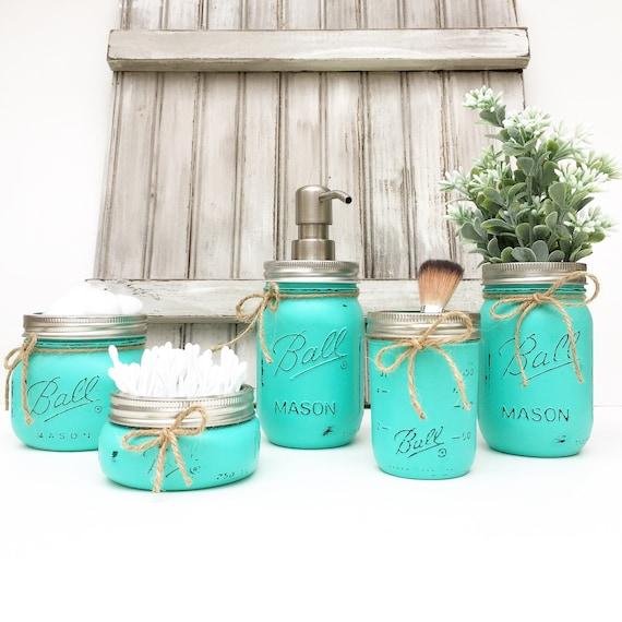 mason jar bathroom set mason jars bathroom decor bridal