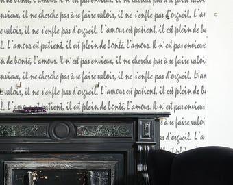 Love FRENCH SCRIPT Stencil Wall Furniture Floor Craft Stencil
