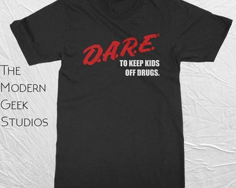 D.A.R.E. (Dare) Vintage Logo Shirt - Screen Printed - Basic or Premium Shirts