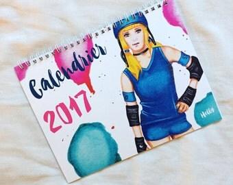 Roller Derby 2017 calendar