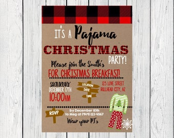 Christmas PJ Party or holiday party***Digital File***  (Christmas-PJParty)