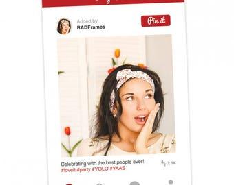 Pinterest Frame, Prop Sign,  Photo Booth Prop, Pinterest Wedding Sign, Marketing, Printed Props, Social Media Cutouts, Selfie