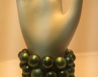 Vintage Green Pearl Bracelet