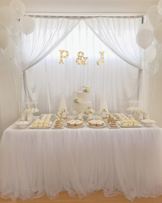 White Tulle Tutu Tablecloth Table Skirt For By