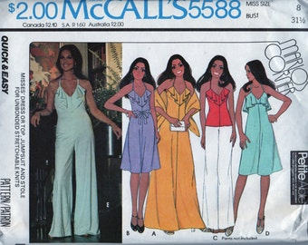 Marlo's Corner McCall's 5588 for Halter Dress, Top, Jumpsuit and Stole