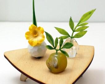 Set of 3 Miniature Vases - Yellow Jubilee Set
