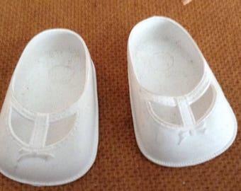 Vintage Slip On Rubber Doll Shoes