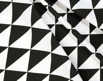 Designer Black & White Geometric Fabric Cotton Home Decor Fabric by the Yard Drapery Curtain or Upholstery Fabric Black White Fabric C225