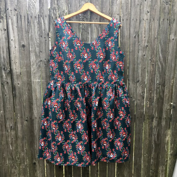 Dress Made with Alice in Wonderland Fabric
