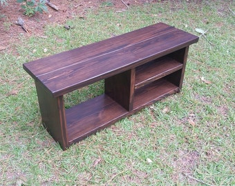 Rustic Storage Bench - Organize Your Shoes And Boots!