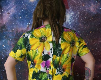 brightly coloured 1960s top