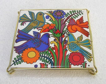 Retro Midcentury Villeroy & and Boch Acapulco Pot Stand  WORLD WIDE SHIPPING
