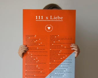Romantic gift: 111 x love