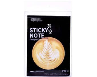 Post it notes, coffee