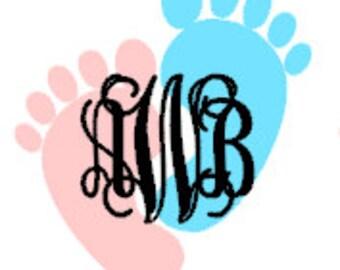 Baby Footprint Monogram