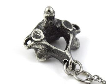 C2 Axis Vertebra Pendant Necklace Anatomical Jewelry