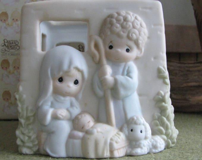 Precious Moments Nativity Votive Candle Holder 1996 Retired