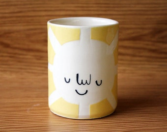 Made to order: Happy Yellow Sun Tumbler- Small
