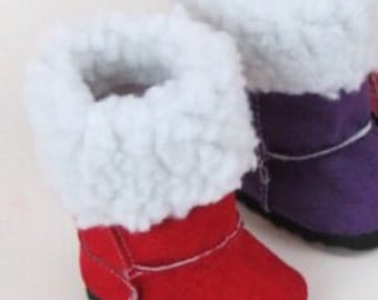 SALE-RED Suede Boots for Doll, 18 inch doll Accessories