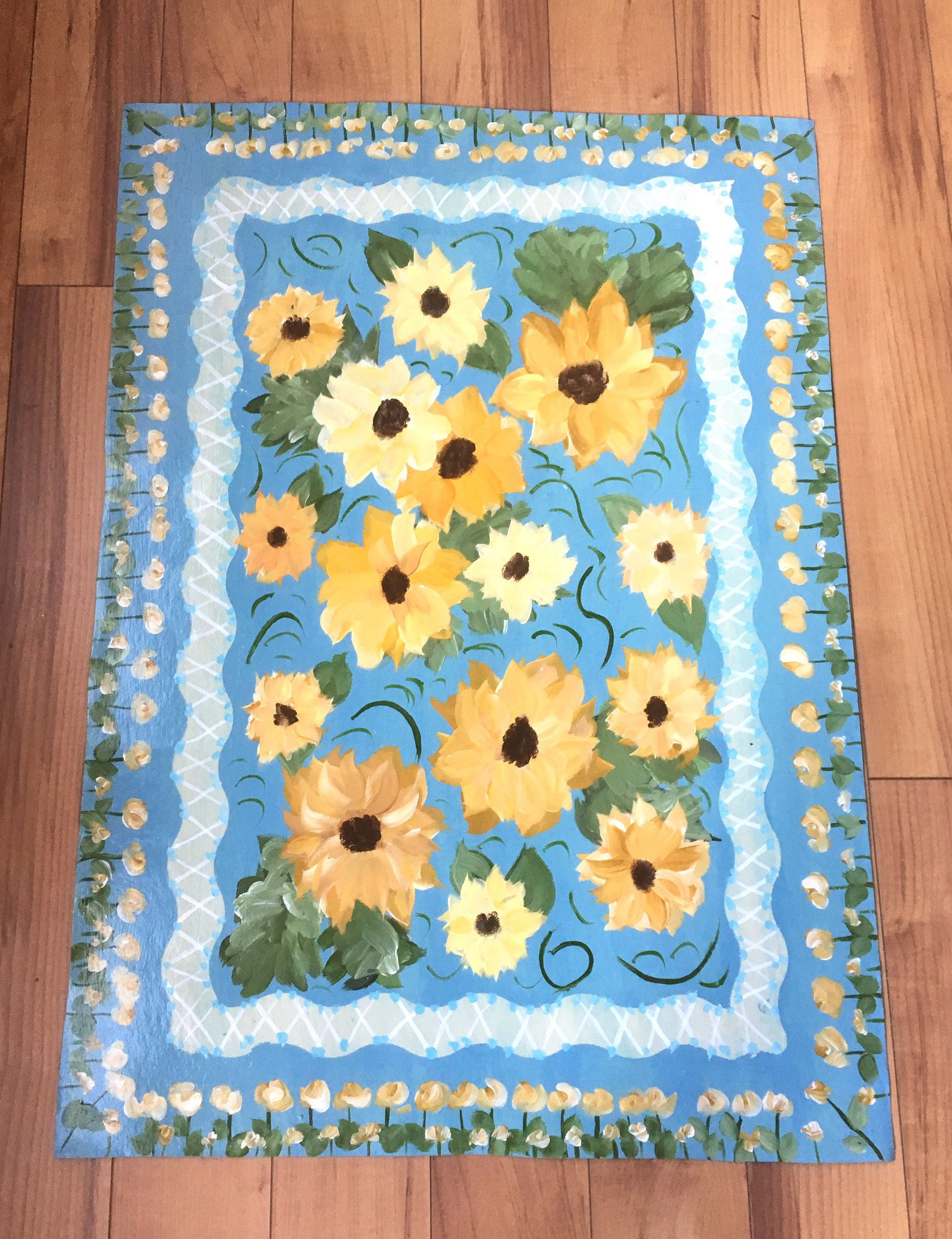 Sunflower Kitchen Rugs Home Design Ideas and