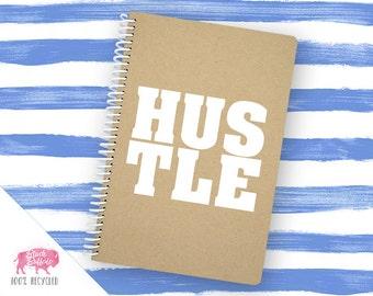 Spiral Notebook | Spiral Journal Planner | Journal | 100% Recycled | Hustle | BB037LG