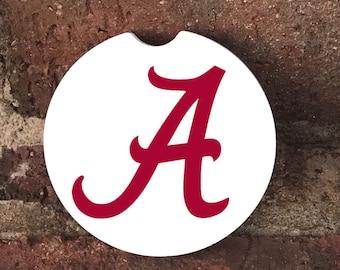Custom Alabama  Absorbent Stone car coasters (set of 2)