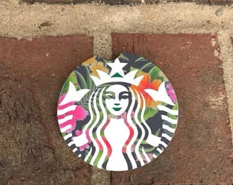 Custom Starbucks Sandstone Auto Car Cup Holder Coasters (set of2), Absorbent Sandstone Custom Car Coasters (set of2) Gift Ideas