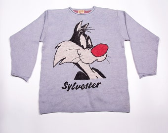 Vintage Sylvester the Cat Looney Tunes 90s Sweater