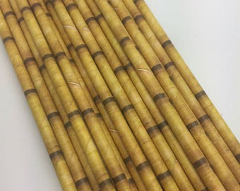 Bamboo Paper Straws 25PC