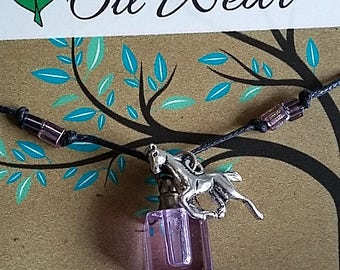 Child Horse Essential Oil Cord Necklace