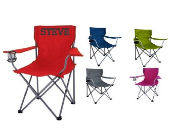 Personalized Adult Folding Chair Embroidered NOT Vinyl