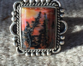 A Scenic Petrified-Wood Ring