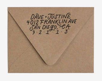 Classic - Custom Hand Lettered Return Address Stamp